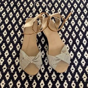 Brand new, never worn Merona wedge sandals